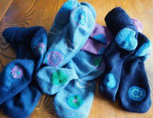 socks with mendalas